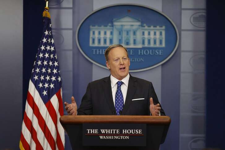 WASHINGTON, DC - FEBRUARY 21: Press Secretary Sean Spicer holds the daily press briefing at the White House February 21, 2017 in Washington, DC. Spicer took questions about President Trump's recent immigration enforcement actions. (Photo by Aaron P. Bernstein/Getty Images)