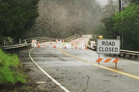 The sagging Pfeiffer Canyon Bridge on Tuesday, Feb. 21. Photo courtesy of Kristen Parkhurst
