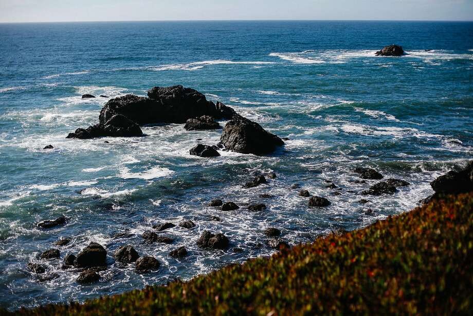 A 19-year-old Fairfield woman died after being hit by a sneaker wave Monday and swept out to sea along the Sonoma County coast, a few miles north of Bodega Bay. Photo: Sarah Rice, Special To The Chronicle