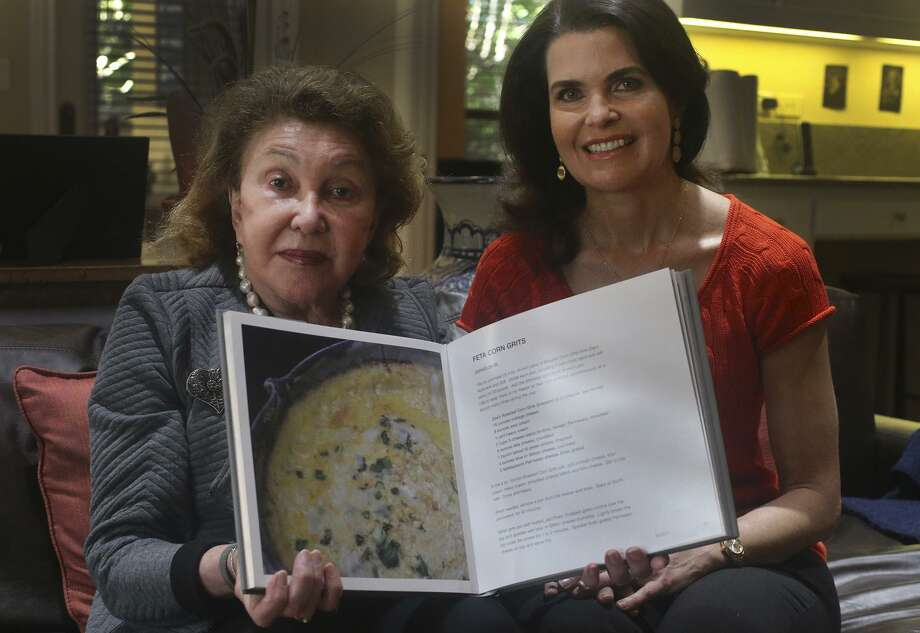 """San Antonio dermatologist Allison Stocker (right) was inspired to become a dermatologist because of her godmother Nia Terezakis (left), also a dermatologist. Terezakis, who lives in New Orleans, wrote the book, """"Artful Feast: An Elegant Lifestyle for Dining."""" It is filled with recipes from her own collection and from friends that can be made quickly to entertain at the last minute. Photo: John Davenport /San Antonio Express-News / ©San Antonio Express-News/John Davenport"""