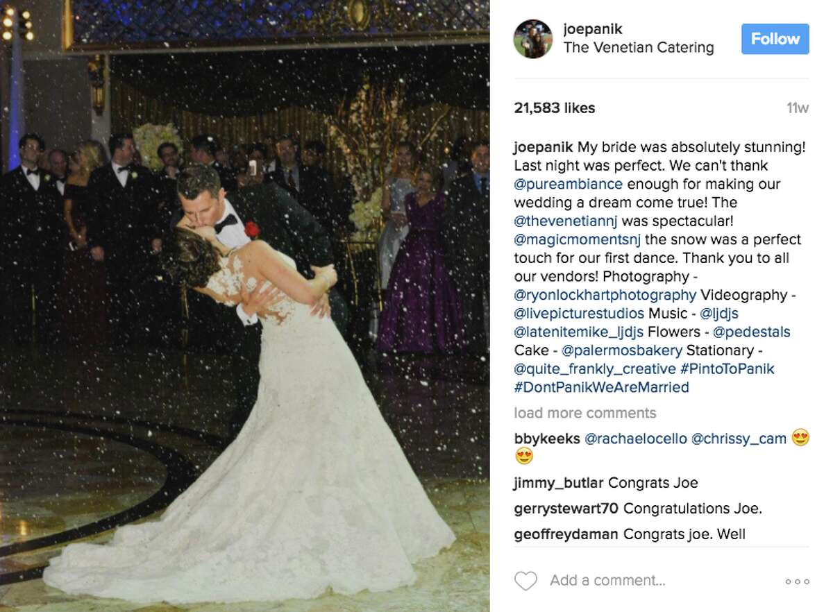 Joe Panik broke more than a few Bay Area hearts when he announced his engagement to high school sweetheart Brittany Pinto. The two got engaged on Central Park's Bow Bridge, and tied the knot over the offseason in New Jersey.