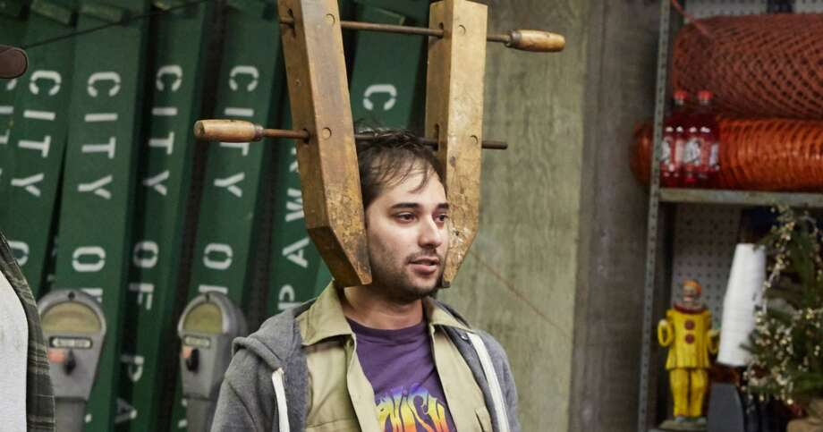Harris Wittels (R) with Colton Dunn on Parks and Recreation. Photo: Ben Cohen/NBC Photo: Ben Cohen/NBC