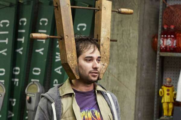 Harris Wittels (R) with Colton Dunn onParks and Recreation.Photo: Ben Cohen/NBC