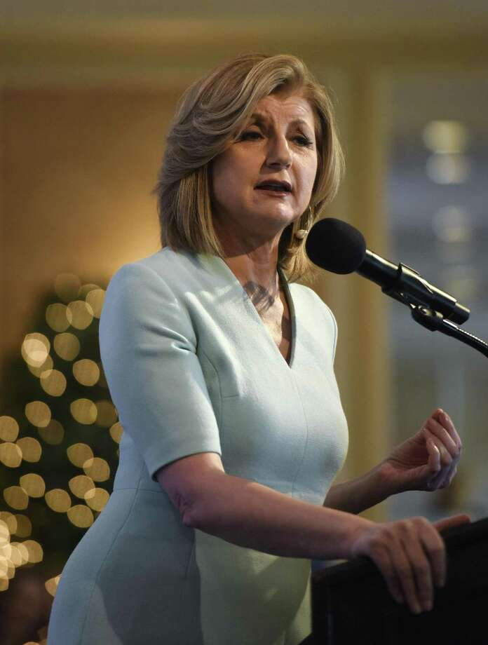 Huffington Post founder and author Arianna Huffington speaks at the United Way's annual Sole Sisters luncheon at Greenwich Country Club in 2016. Tickets are on sale now for the 2017 luncheon, set for April 25. Photo: Tyler Sizemore / Hearst Connecticut Media / Greenwich Time