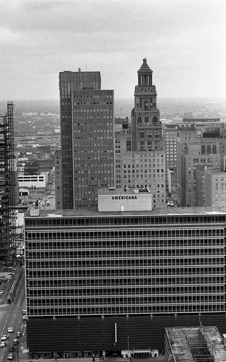 03/1963 - View of downtown Houston from the Humble Building, 800 Bell. Esperson Building, Americana building Photo: HC Staff / Houston Chronicle