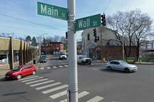 The intersection of Main and Wall Streets Tuesday, February 21, 2017, in Norwalk, Conn. The Norwalk Redevelopment Agency has asked for $500,000 in the city's forthcoming 2017-18 capital budget to improve the intersection of East Wall and Main streets in central Norwalk. The project, which has the strong backing of Wall Street redeveloper M.F. DiScala & Co., would realign curbs, establish safe travel lanes, and install historic lighting fixtures and pedestrian-safe crosswalks at one of the city's most dangerous intersections.