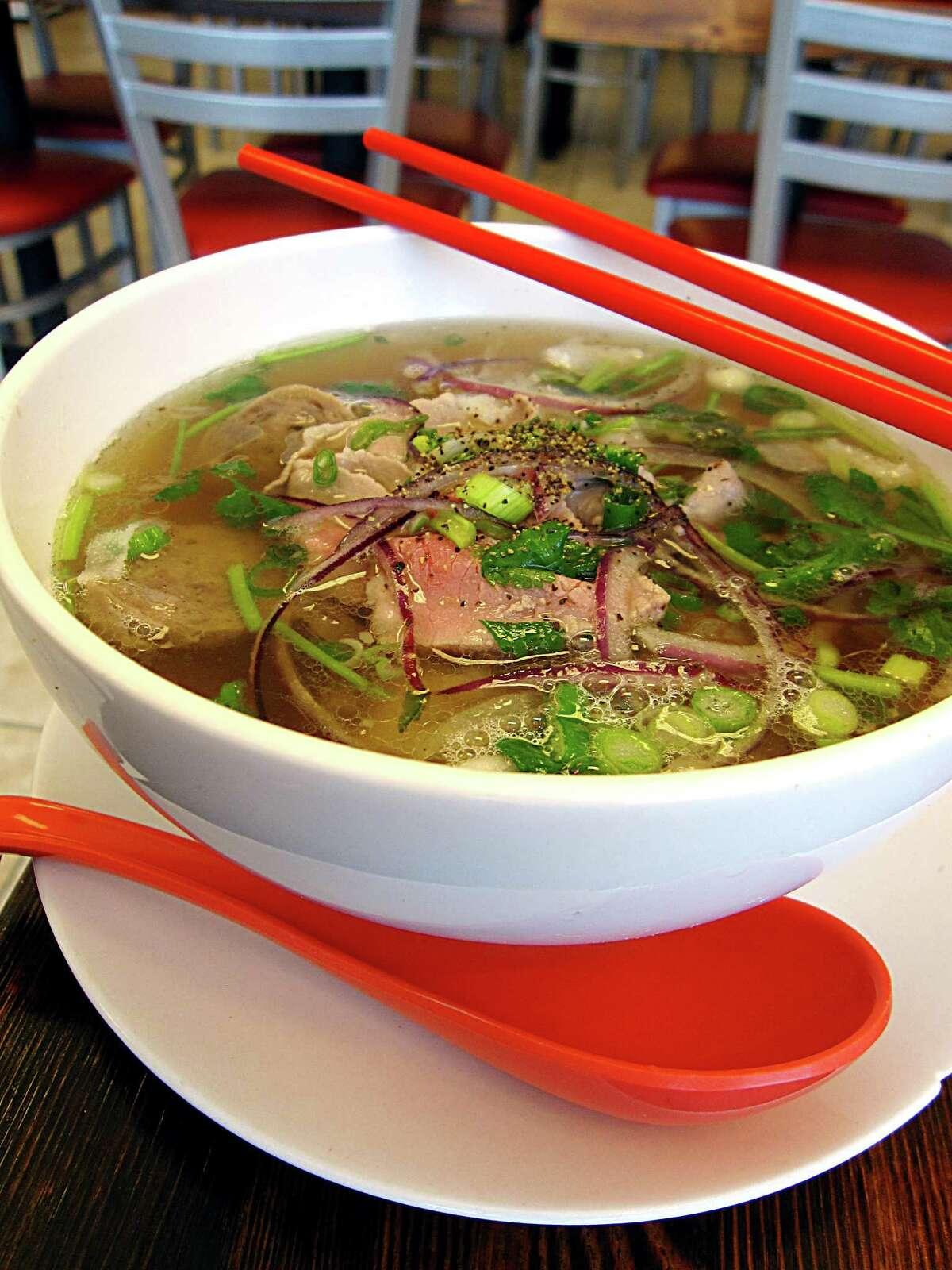 No. 1 Pho with brisket, tendon, tripe and sliced meatballs from Berni Vietnamese Restaurant