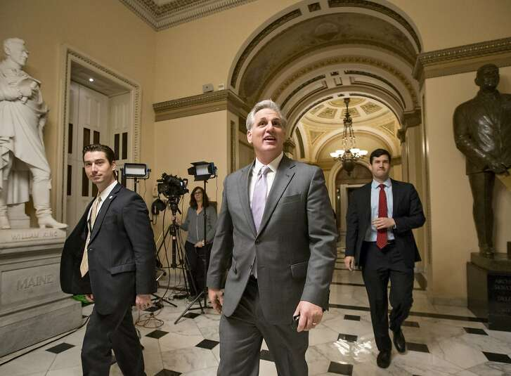 House Majority Leader Kevin McCarthy, R-Calif., smiles as he departs the chamber just after the GOP-controlled House of Representatives voted to eliminate key parts of President Barack Obama's health care law and to stop taxpayer funds from going to Planned Parenthood, at the Capitol in Washington, Wednesday, Jan. 6, 2016. It is the 62nd vote House Republicans have cast to repeal or diminish the Affordable Care Act, but this is the first time their bill will end up on the president's desk. President Obama has said he will veto the legislation.    (AP Photo/J. Scott Applewhite)