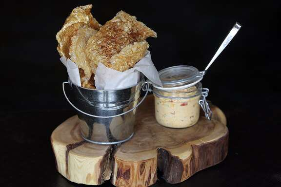 Chicharrones with pimento cheese at Sustenio