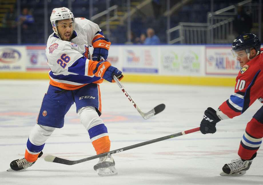 The Sound Tigers' Josh Ho-Sang is adapting to the pro life on and off the ice. Photo: Brian A. Pounds / Hearst Connecticut Media / Connecticut Post