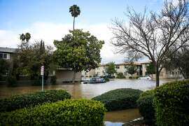 Severe flooding is seen in San Jose, California, on Tuesday, Feb. 21, 2017.