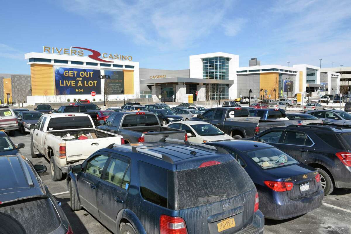 The outside parking lots at Rivers Casino and Resort in Schenectady, NY. Click through the gallery for a closer look at the casino by the numbers.