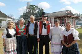 Joyce Lolley, from left, Gloria Mican, Ray Michan, Ted Kaspar, Shirley Myers and Aurelia Cerny, members of the Czech Heritage Society of Fort Bend County, pose in front of the 1901 Richmond train depot at Decker Park. The Czech Heritage Society of Fort Bend County is one of the heritage groups that will be offering activities during the first Brazos Cultural Heritage Festival on March 4 from 11 a.m. to 3 p.m. at Decker Park.