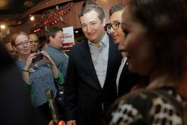 "Sen. Ted Cruz take photos during the  Spring Branch Republican Party's ""Get out the Vote"" party at Cafe Adobe on Monday, Nov. 7, 2016, in Houston. ( Elizabeth Conley / Houston Chronicle )"