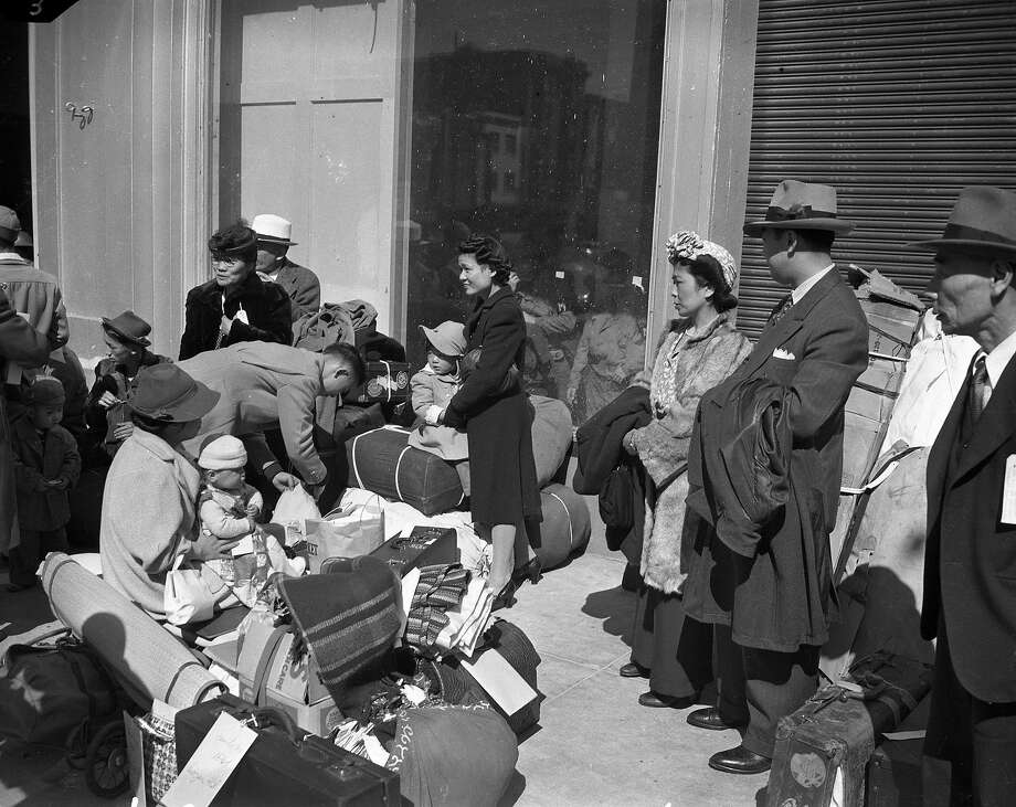 April 6, 1942: Thousands of Bay Area residents were forced to internment camps following an executive order aimed at Japanese-American citizens after the start of World War II. Photo: Chronicle File Photo, The Chronicle