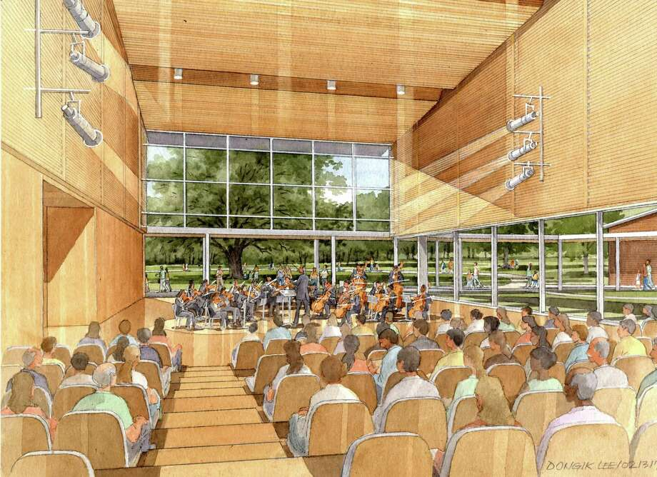 A rendering of the interior of one of the new buildings at Tangelwood, due to open in 2019. (Image courtesy Boston Symphony Orchestra)