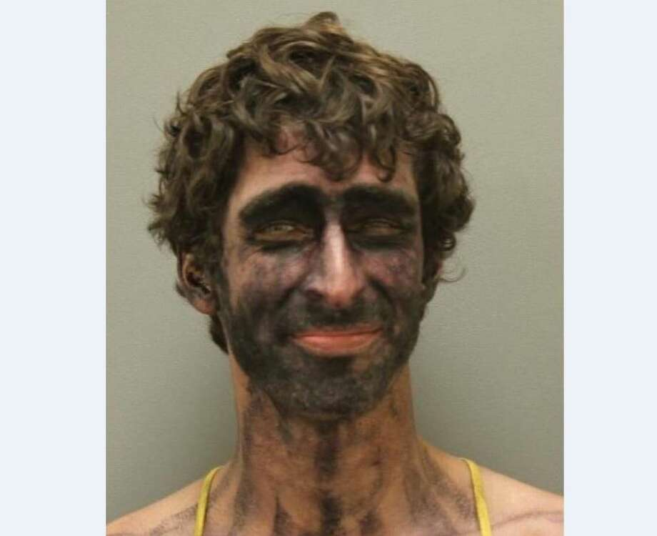 """Texas man with substance on his face arrested, tells police: 'I am the law'""Feb. 22, 2017 Photo: DENTON COUNTY POLICE DEPARTMENT"
