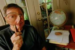 CONTACT FILED:  GARY CARTWRIGHT  Portrait of Gary Cartwright, writer for Texas Monthly, in his Austin home office, 8/14/02.  HOUCHRON CAPTION  (09/11/2002):  Gary Cartwright is a longtime Texas monthly writer and author. His books include Blood Will Tell and Galveston, A History of the Island. Taking a close look at where the word is one year later, Cartwright determines we are right back where we started.  HOUSTON CHRONICLE SPECIAL SECTION: Our Changed World - REMEMBERING SEPT. 11.