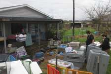 The Caldwell County Sheriff's Office and the SPCA of Texas seized hundreds of animals from a home near Lockhart on Feb. 20, 2017.