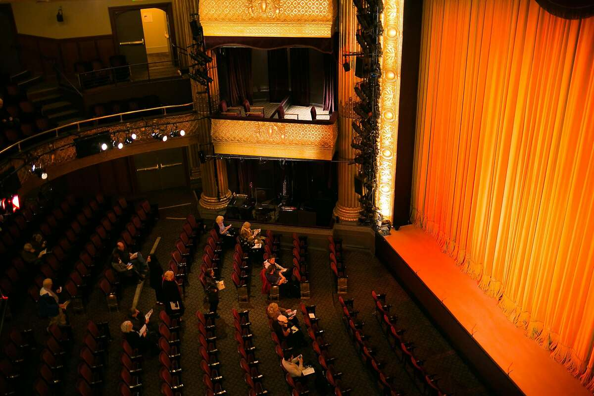 The audience find their seats for the �A Thousand Splendid Suns� at A.C.T.'s Geary Theater in San Francisco, Calif. Tuesday, February 21, 2017.