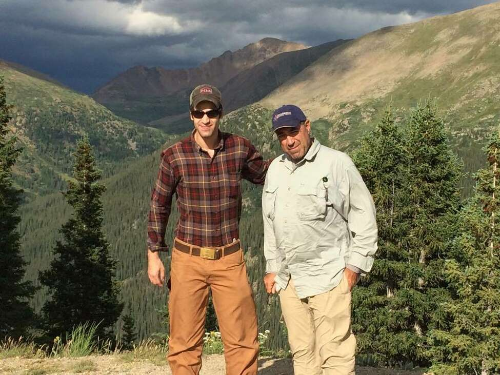 Will Boyajian, left, and his father, Donald Boyajian, a prominent Albany attorney, during a 2015 vacation in Colorado. The younger Boyajian has started the #HopefulCases campaign to raise money for the homless in New York City. (Photo courtesy Will Boyajian.) ORG XMIT: TJqKw_5KQzziIqQO6qrc