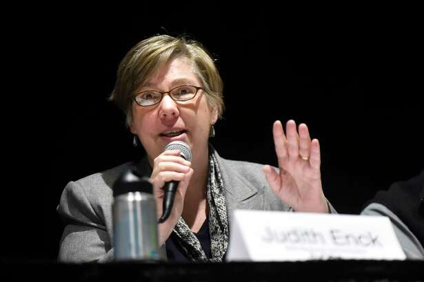 "Judith Enck, former Environmental Protection Agency Administrator for Region 2, has urged the village of Hoosick Falls to reject an agreement with two companies blamed for polluting the community's water supplies. Enck called the draft settlement  ""deeply flawed."" (Cindy Schultz / Times Union)"