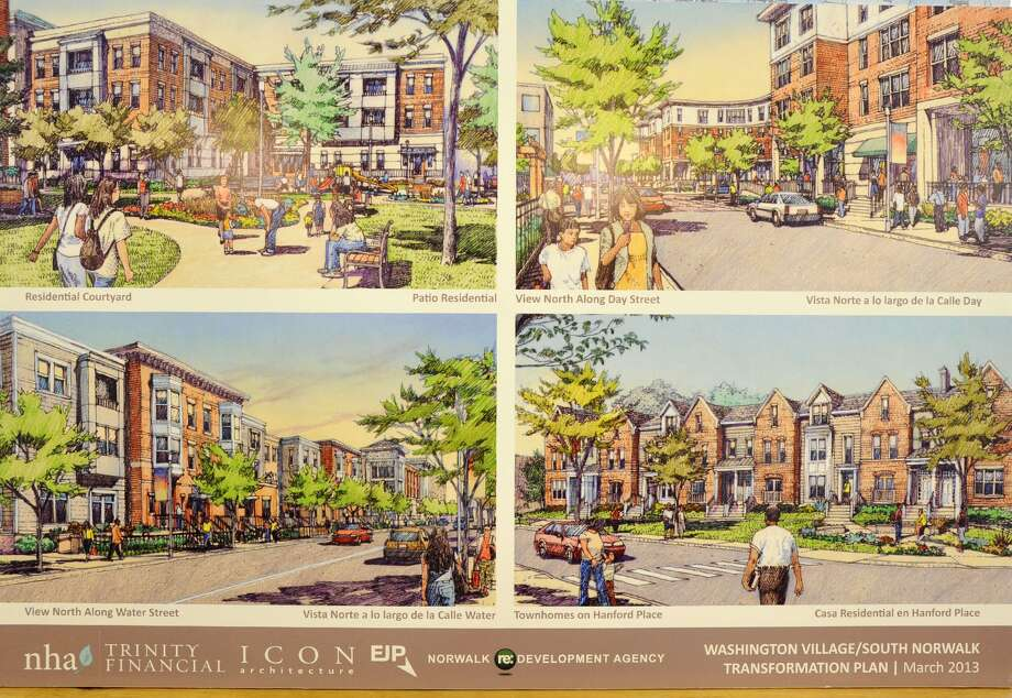An artist rendering from 2013 of the proposed Washington Village housing project in Norwalk, Conn. Photo: Jason Rearick / Jason Rearick / Stamford Advocate
