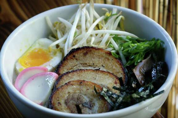 The Tonkotsu ramen at Kimura, a Japanese noodle house from the Gwendolyn owner Michael Sohocki. Kimura will feature the miso ramen variety at Thursday's R-amen and Ridiculously Good Drinks Popup event at R Public Relations. The event at 1014 Townsend Avenue will run from 6 to 9 p.m.