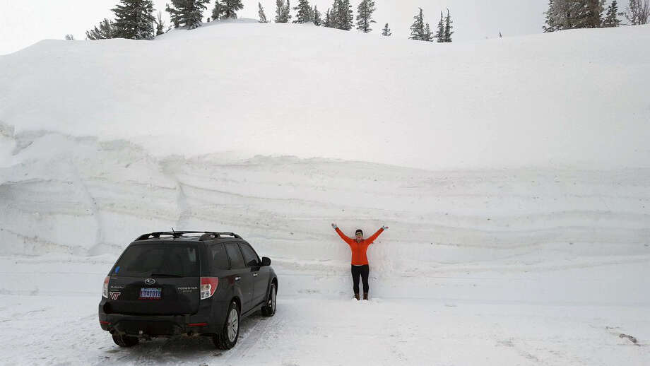 Photos show the insane amounts of snow piled up in Tahoe