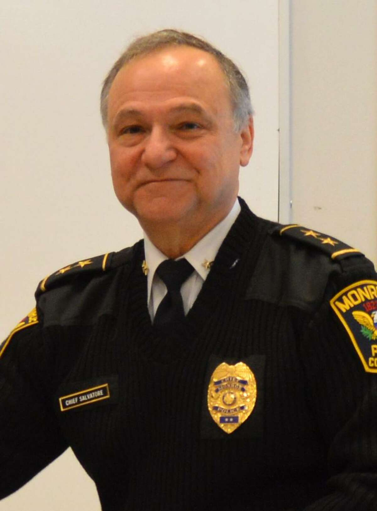 Chief John L. Salvatore of the Monroe Police Department is president of the Connecticut Police Chiefs Association.
