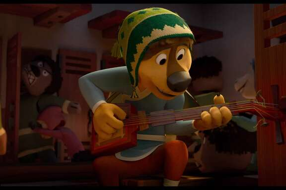 "Luke Wilson voices Bodi, the star of ""Rock Dog."""