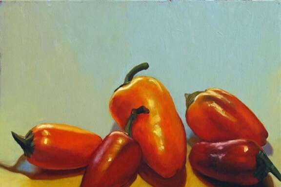 """""""Little Peppers"""" is among paintings in Ellen Berman's Show """"Three. Two. One."""" at Hooks-Epstein Gallery Feb. 25-April 1."""