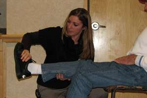 Griffin Hospital is offering a free fall prevention program on March 10 at the hospital, featuring fall risk assessments, fall prevention techniques and exercises to help improve balance. Photo courtesy of Griffin Hospital.