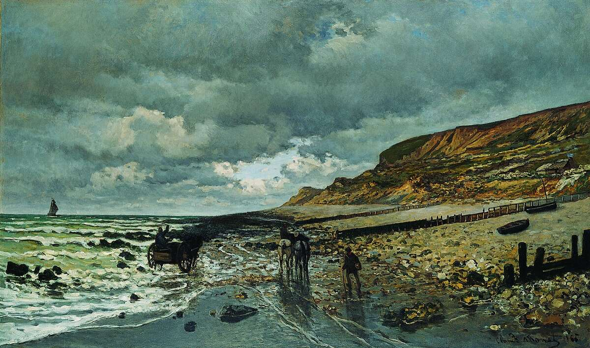 """Claude Monet, """"The Pointe de La Hevé at Low Tide"""" (1865)"""