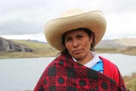 Maxima Acuna, a 2016 Goldman Prize winner from Peru, as pictured in film