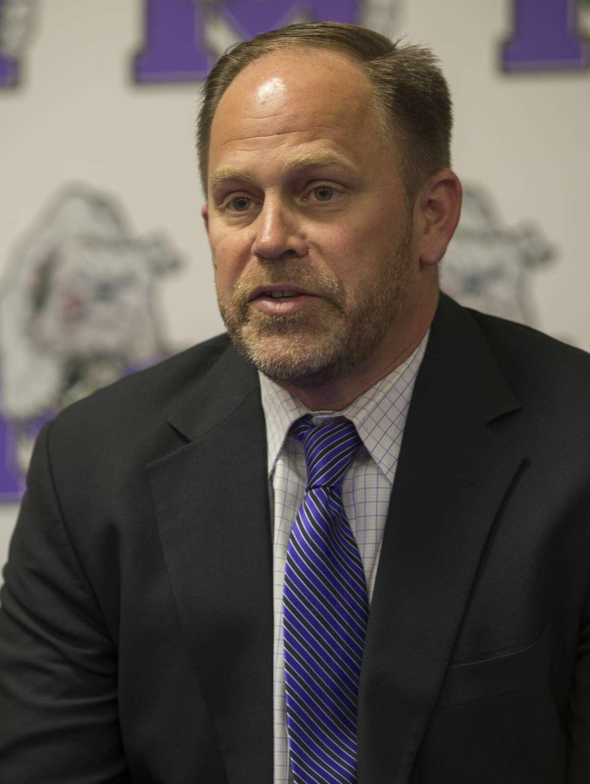 Coach Tim Anuszkiewicz was named MHS head football coach Wednesday 02-22-17 at Midland High School. Tim Fischer/Reporter-Telegram