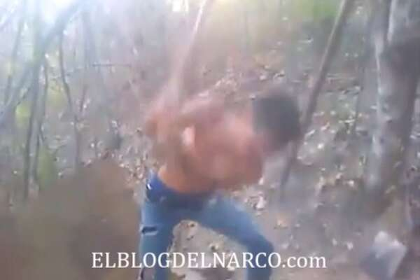 A shocking video shows a member of the Gulf Cartel decapitating a man in Mexico in February 2017, according to Blog del Narco.