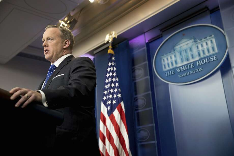 White House spokesman Sean Spicer says state governments are better able to decide which bathrooms their students use. Photo: Andrew Harnik, Associated Press