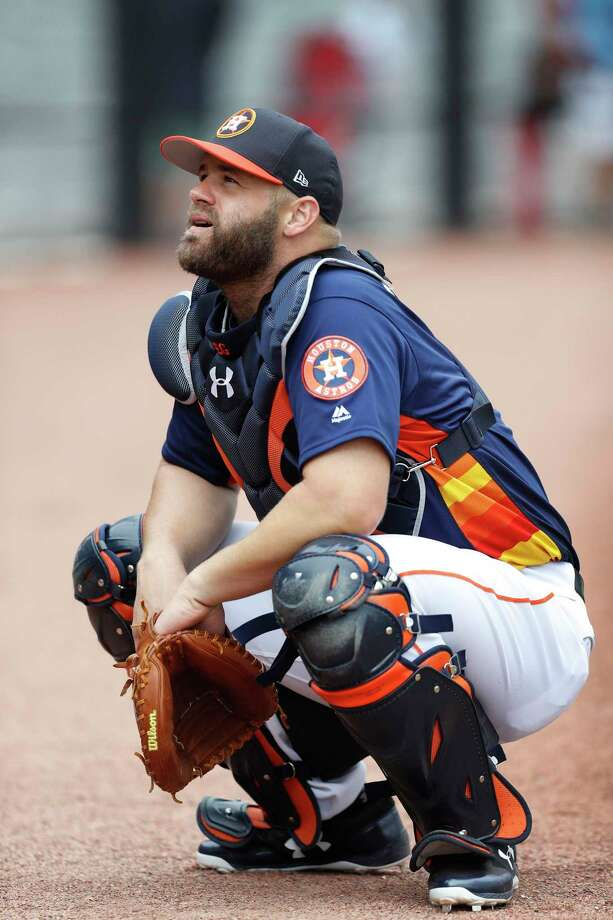 Houston Astros catcher Evan Gattis (11) during spring training at The Ballpark of the Palm Beaches, in West Palm Beach, Florida, Wednesday, February 22, 2017. Photo: Karen Warren, Houston Chronicle / 2017 Houston Chronicle