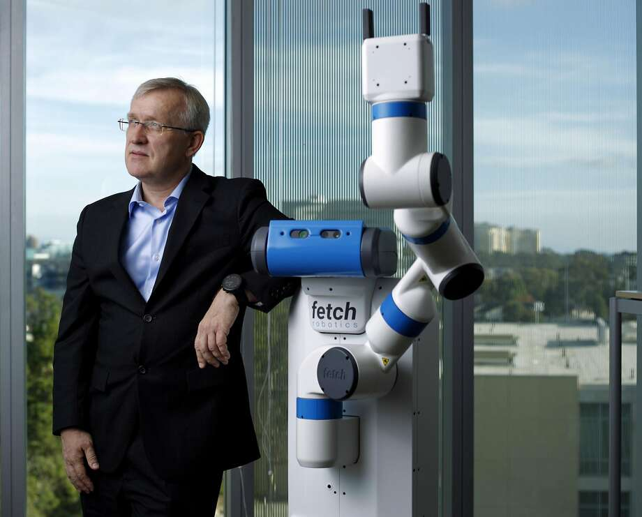 "Henrik Christensen of UC San Diego says robots will do "" the dirty, dull and dangerous jobs."" Photo: K.C. Alfred, TNS"
