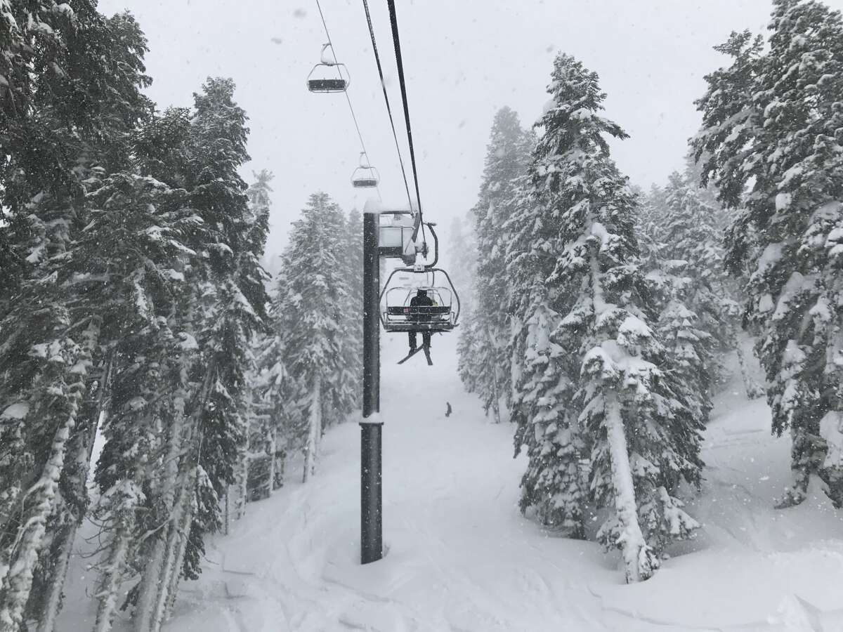 Fresh powder at Squaw Valley on Feb. 21, 2017
