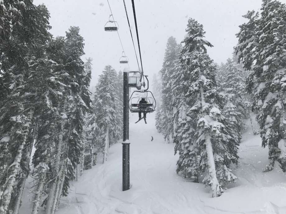 Fresh powder at Squaw Valley on Feb. 21, 2017 Photo: Liesl Kenney