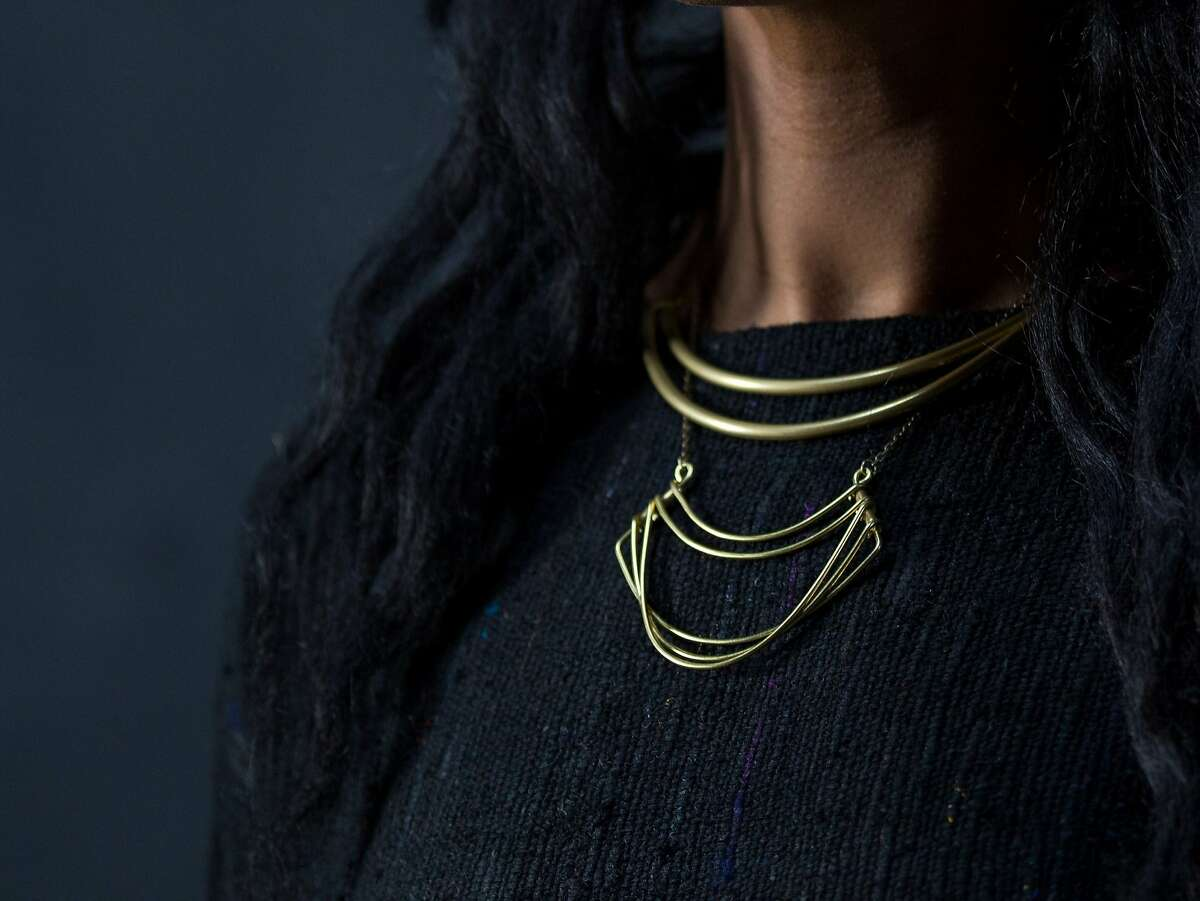 A necklace design by East Bay jeweler Beth Naumann for her Hellbent line.