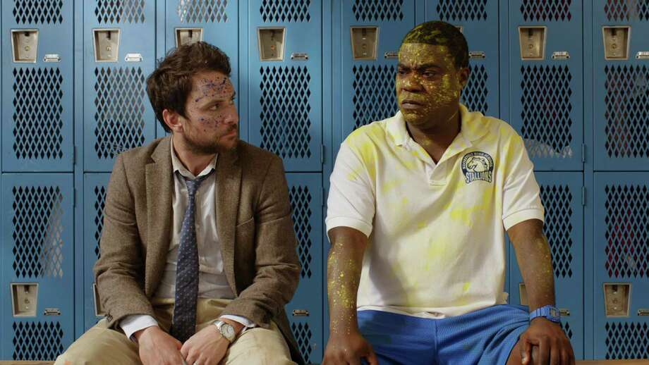 """This image released by Warner Bros. Pictures shows Charlie Day, left, and Tracy Morgan in a scene from """"Fist Fight."""" (Warner Bros. Pictures via AP) ORG XMIT: NYET294 / © 2016 Warner Bros. Entertainment Inc. and RatPac-Dune Entertain"""