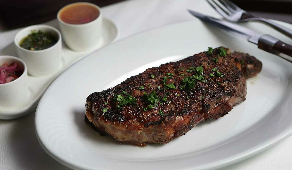 The New York Strip at J Prime Steakhouse.