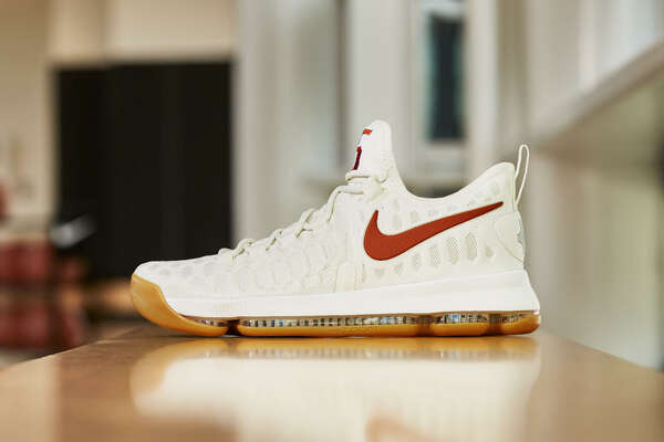 The University of Texas will wear new KD9 Nikes on Saturday in honor of former Longhorns star Kevin Durant.