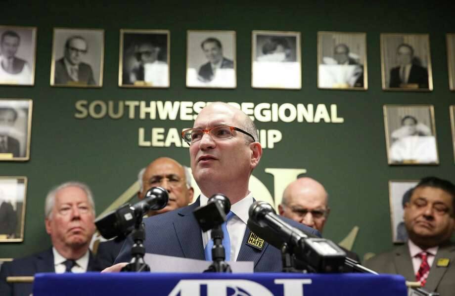 Anti-Defamation League Southwest Regional Director Dayan Gross and local faith leaders gather together at a press conference to show solidarity to the Jewish community Wednesday, Feb. 22, 2017, in Houston. Photo: Yi-Chin Lee, Houston Chronicle / © 2017  Houston Chronicle