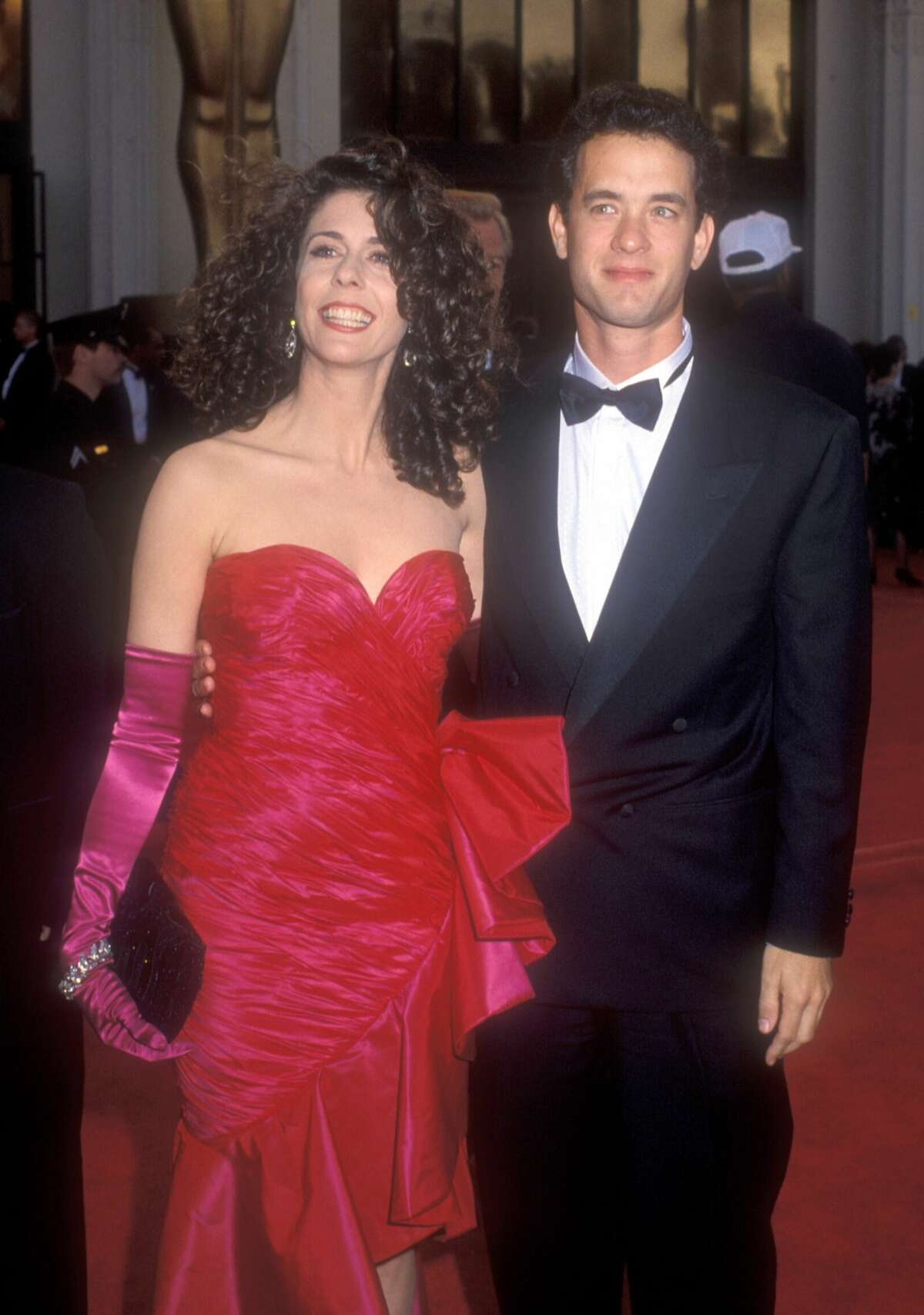 Rita Wilson and Tom Hanks arrive at the61st Annual Academy Awards on March 29, 1989. They celebrated their 29th wedding anniversary in 2017.