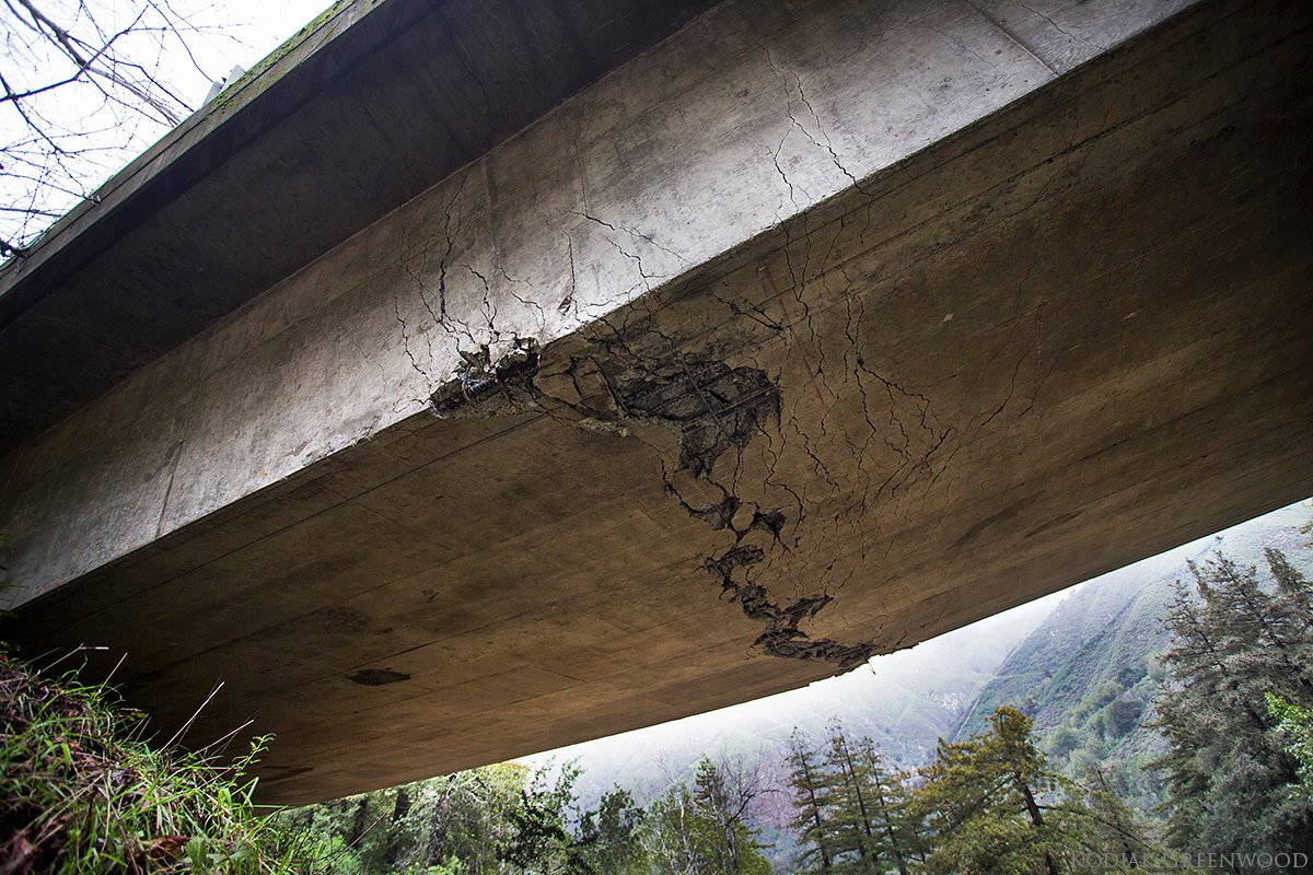Pfeiffer Canyon Bridge In Big Sur Cracked Beyond Repair By