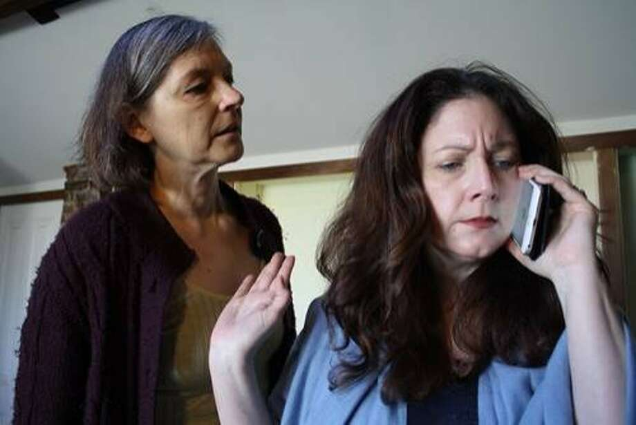 Sylvia Kratins (left) is Joanna and Niki Yapo-Held is daughter Bethany. Photo: Adam Simpson, Off Broadway West